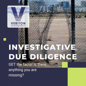 Investigative Due Diligence text on photo of a hole in a security fence