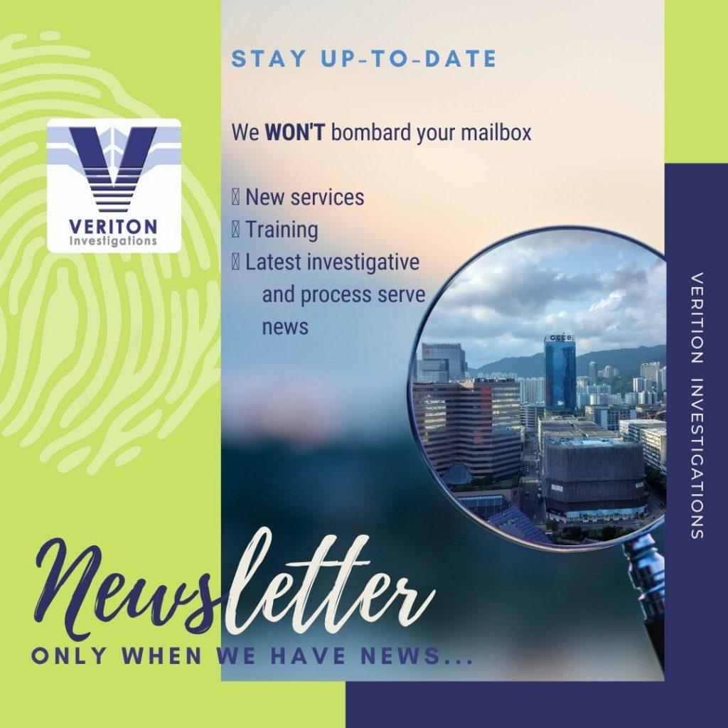 Veriton Investigations Newsletter